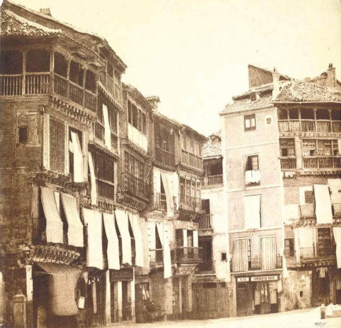 Plaza Mayor hacia 1845.