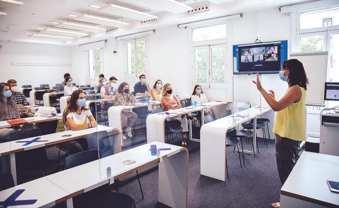 IE University ha sido una institución pionera en aplicar medidas frente a la Covid-19. Roberto Arribas.