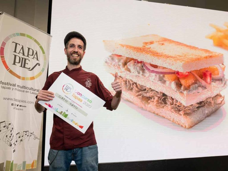 Un sándwich de cordero lechal segoviano gana el concurso Tapapiés