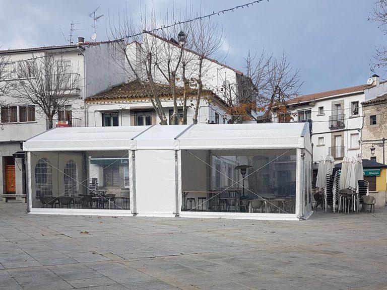 Carpas y estufas en El Espinar para combatir el invierno