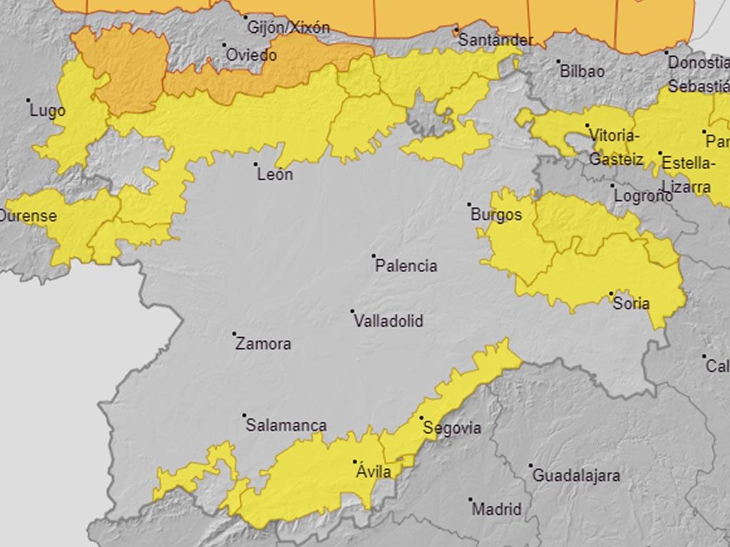 Gran parte de la provincia queda afectada por nevadas desde primera hora