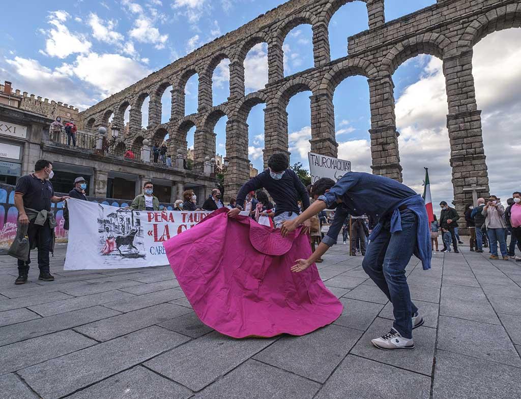Manifestacion Favor Toros Segovia