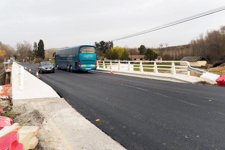 Finaliza la obra del puente de la CL-607 sobre el río Eresma