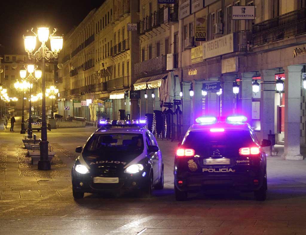 coches policia noche