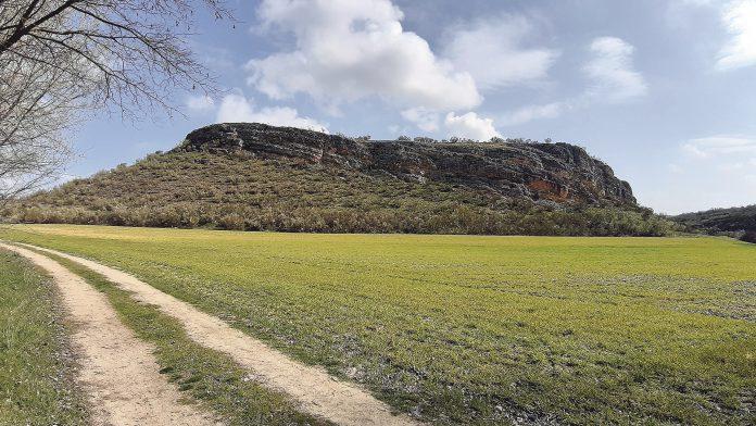 Panorámica del cerro del Tormejón poco antes de iniciar la subida al promontorio. Jorge Esteban Molina.