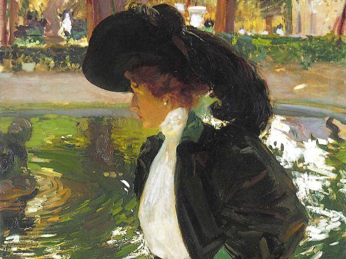 Clotilde paseando en los jardines de La Granja 1907 Joaquin Sorolla