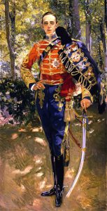 Joaquin Sorolla Retrato Del Rey Don Alfonso XIII con el Uniforme De Husares