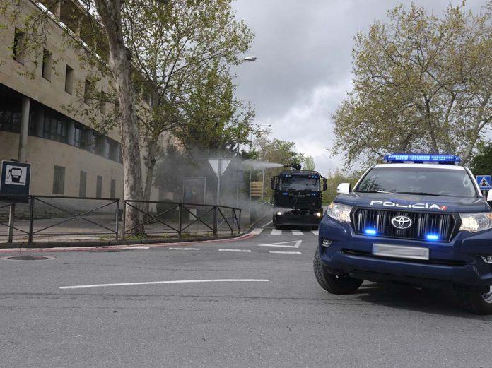 Policia Nacional Comisaria Desinfeccion