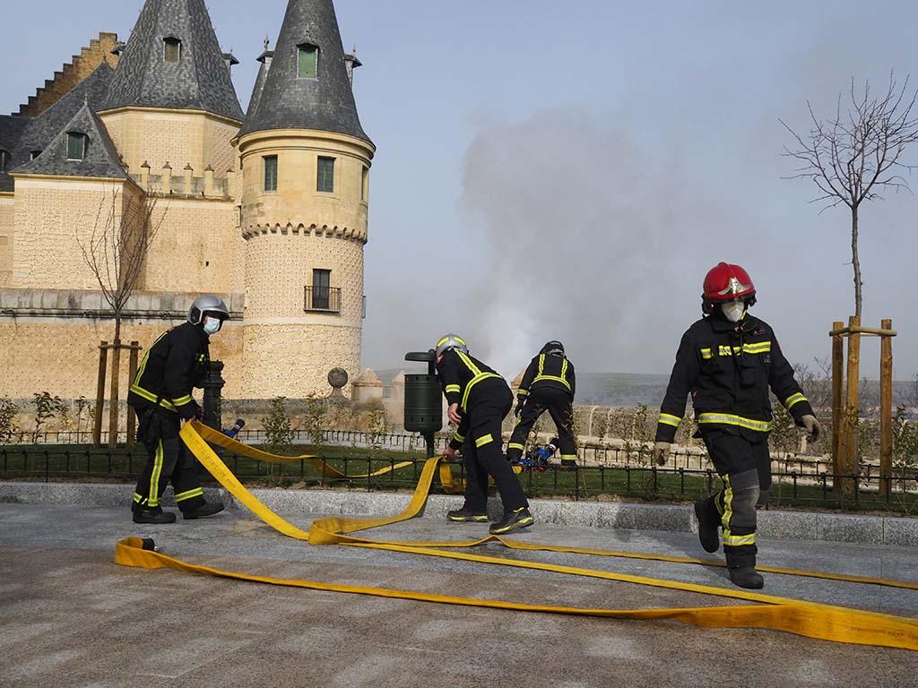 Simulacro de incendio en el Alcazar de Segovia 9