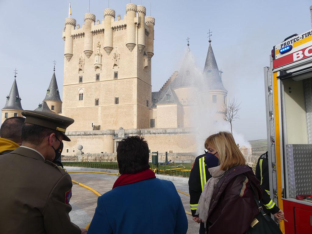 El Plan de Autoprotección del Alcázar, a prueba.