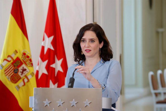La presidenta de la Comunidad de Madrid, Isabel Ayuso