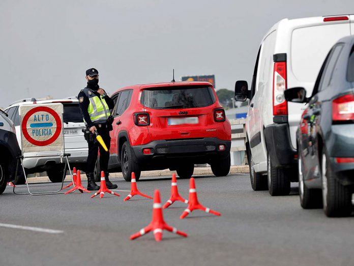 control policia cierre perimetral