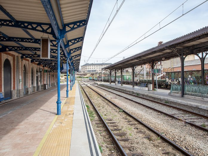Antigua estación de ferrocarril de Segovia. / NEREA LLORENTE