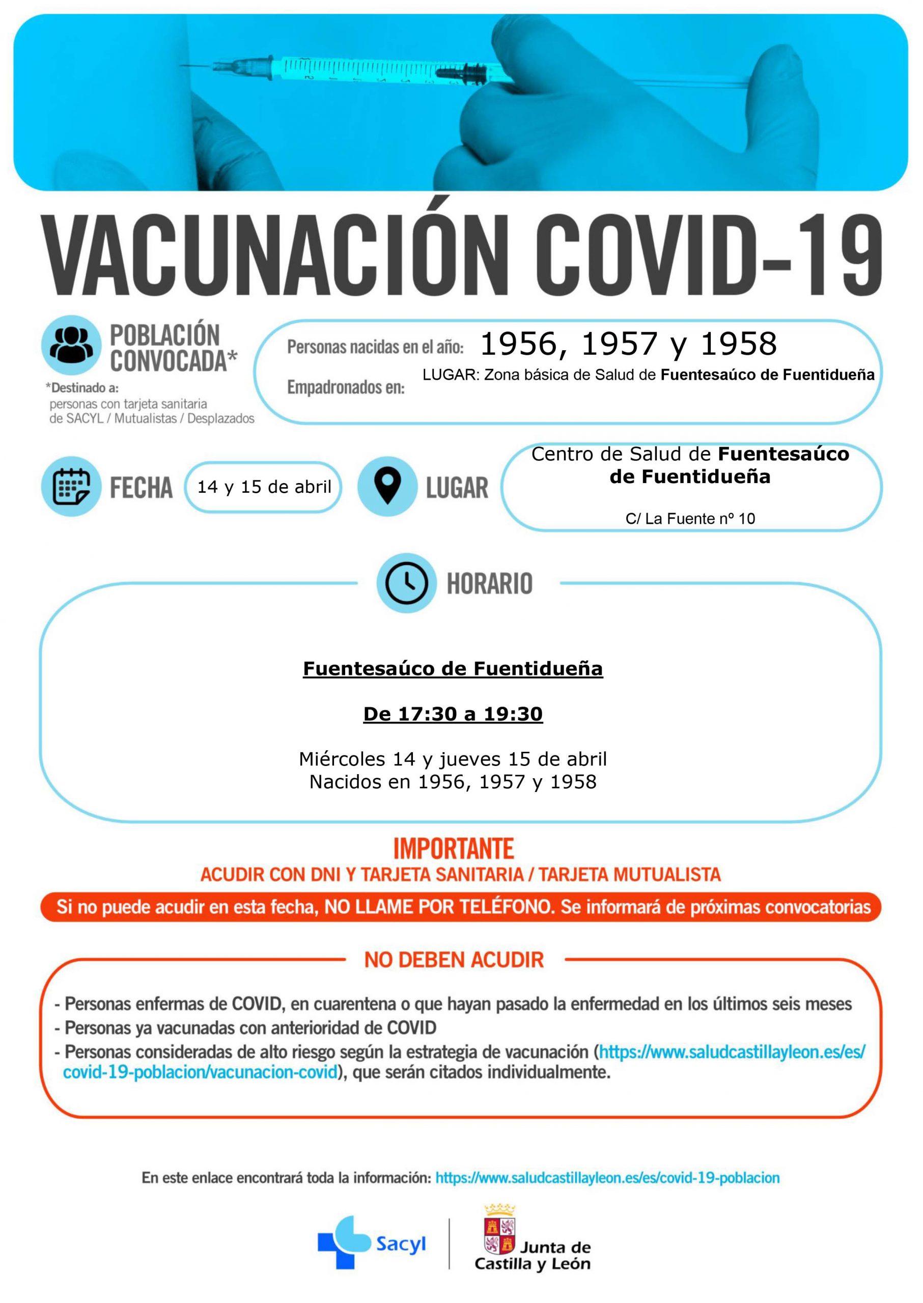 Fuentesauco vacunacion