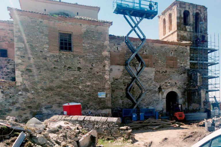 Comienzan las obras para restaurar la iglesia de Fuentes de Carbonero
