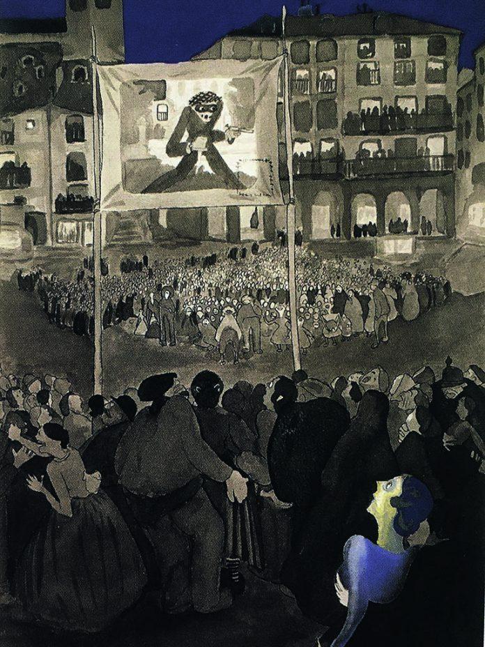 Proteccion cinematografica en la Plaza Mayor Torreagero 1925