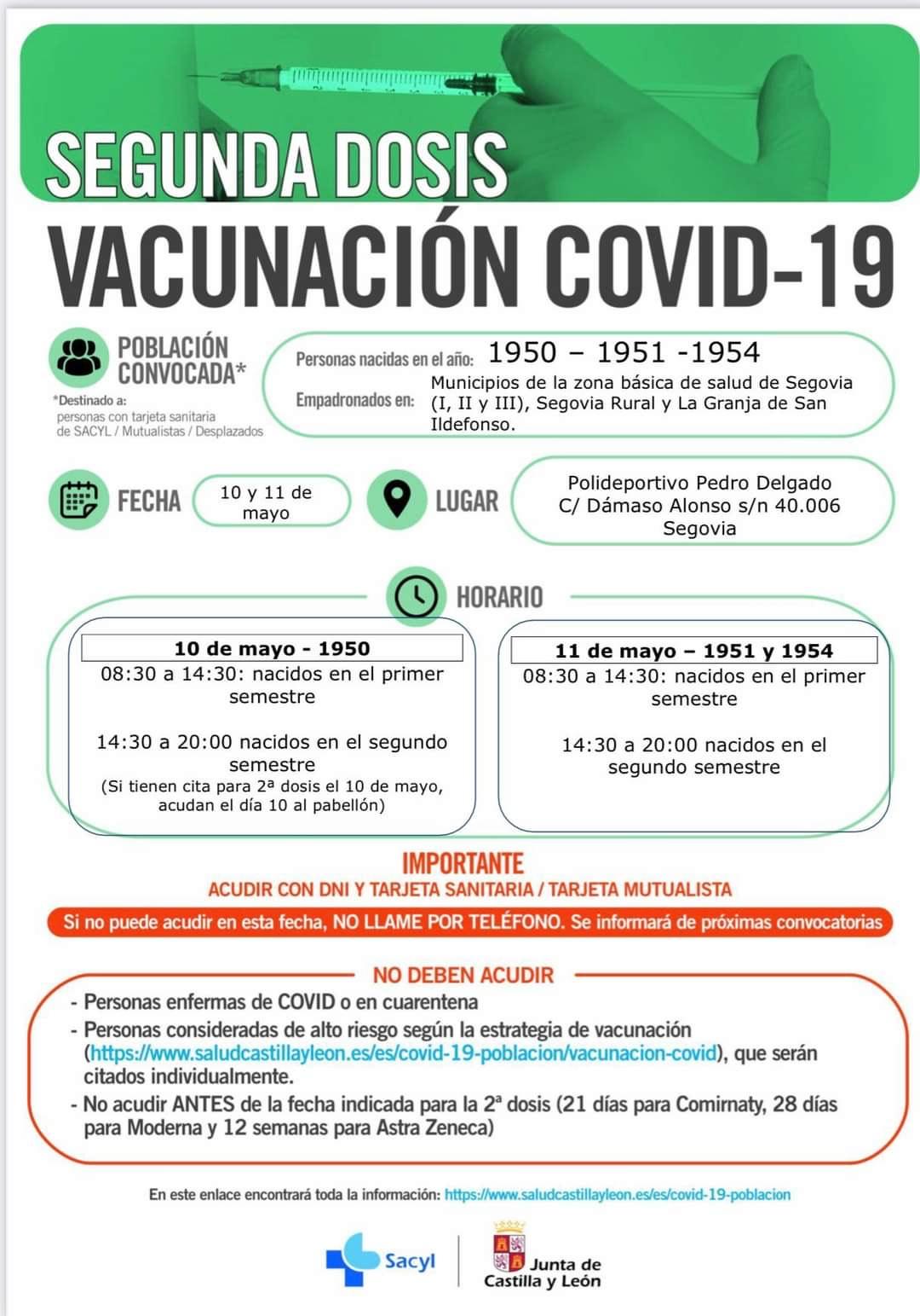campana de vacunacion segunda dosis