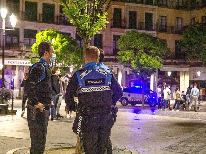 policia segovia estado de alarma