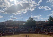 Plaza de toros de Cuéllar, durante el fin de semana