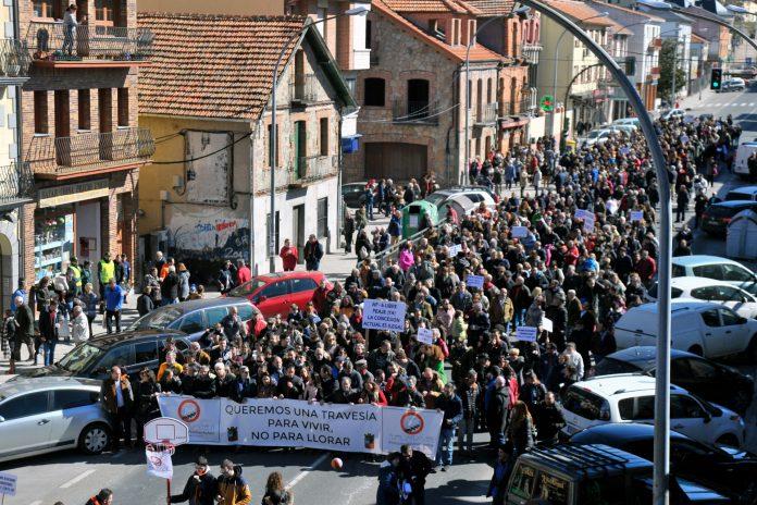 El Espinar Manifestacion Travesia San Rafael KAM1479
