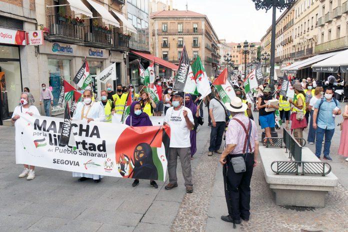 Manifestacion Pueblo Saharaui Marcha Libertad KAM9026