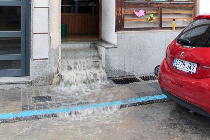 inundacion averia agua calle Jardin Botanico IMG 0129