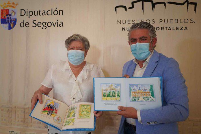 La autora Teresa Vivanco junto al diputado de Cultura, Juventud y Deportes, José María Bravo, en la presentación de su nuevo libro que tuvo lugar ayer. / EL ADELANTADO