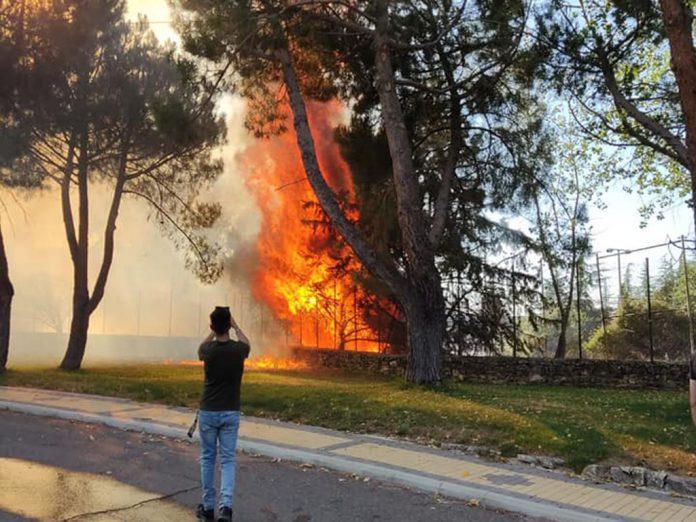 Incendio en Parque Robledo
