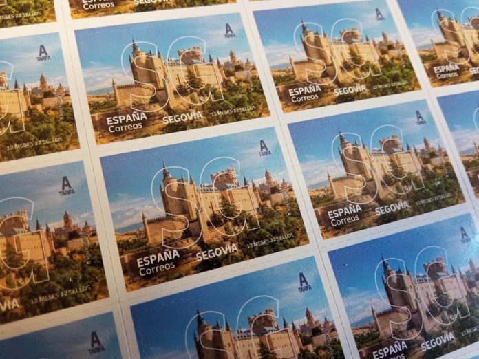 Segovia en 12 meses 12 sellos correos