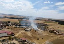 Foto aerea incendio Grajera