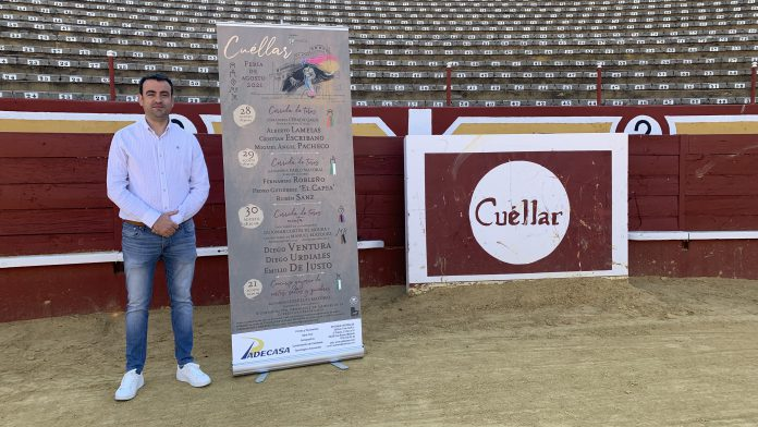 Carlos Fraile presenta la feria taurina de agosto en Cuéllar.