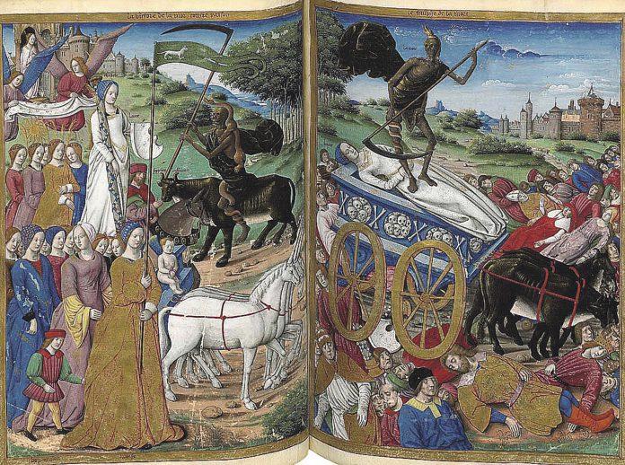 Triunfo de la muerte de Petrarca.