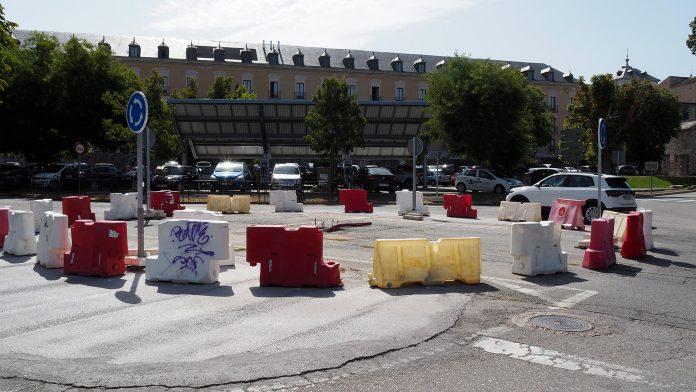 San Ildefonso Obras Rotonda Paseo Juan Borbon KAM8326 web