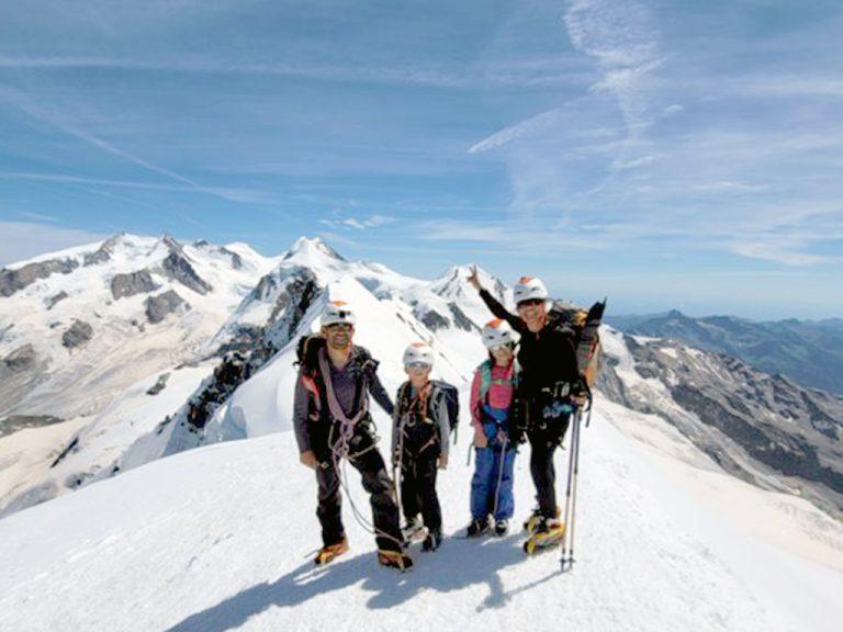 Tocar el cielo desde Los Alpes