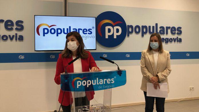 Azucena Suarez y Maria Angeles Garcia en su comparecencia