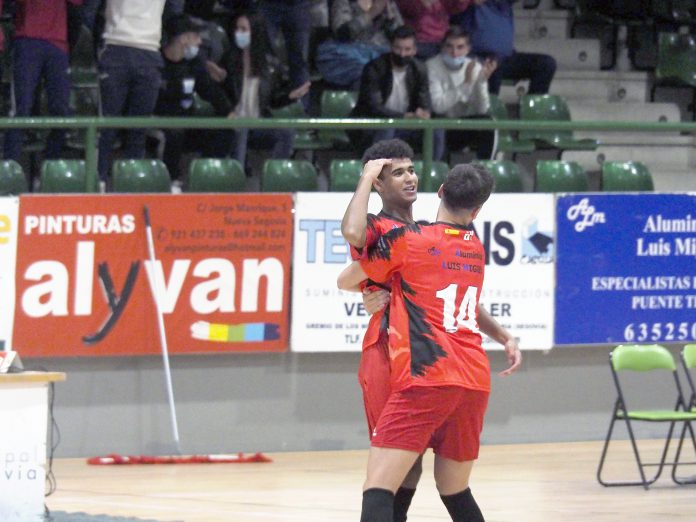Monir Louah celebra un gol. / KAMARERO
