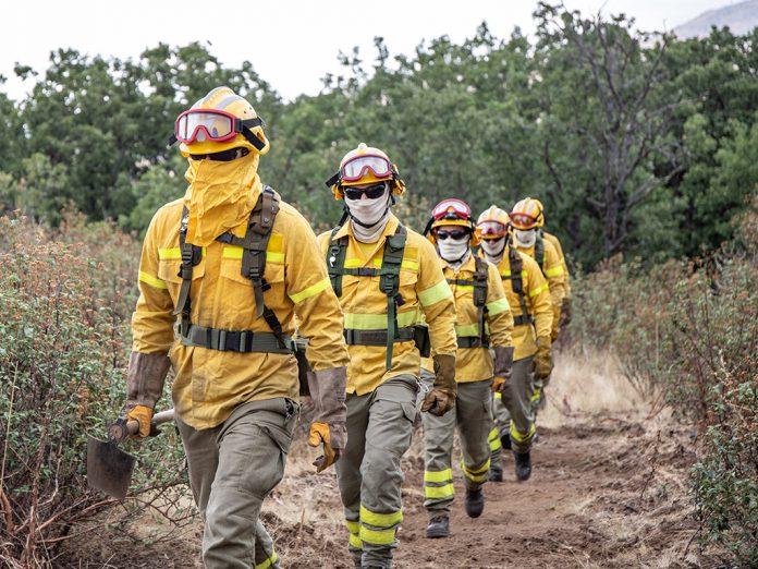 La cuadrilla de un reten de Segovia realiza labores preventivas en la lucha contra incendios