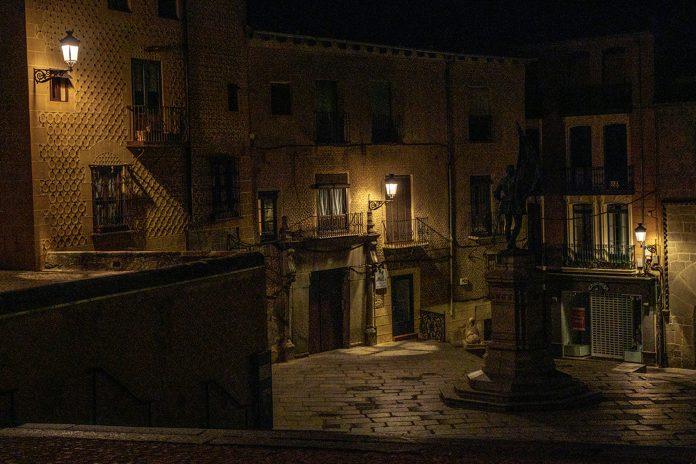 Plaza Medina Campo Nocturna Farolas KAM8771