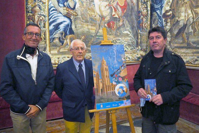 El presidente de la cofradía, Julio Borreguero, anunció ayer en rueda de prensa las novedades del Novenario. / KAMARERO