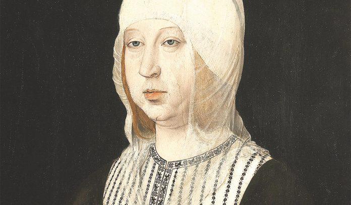 Retrato de Isabel la Católica de Juan de Flandes.
