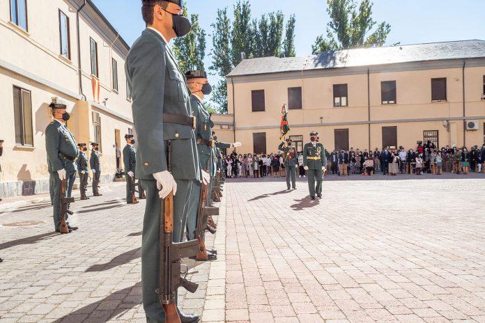 Tras 18 meses, la Guardia Civil recuperó los actos organizados con motivo de la festividad de su patrona. / KAMARERO