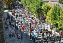Manifestacion del pasado verano en Coca contra la reforma sanitaria